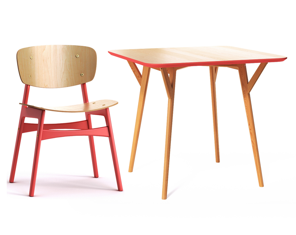 Обеденная группа Square (стол + 4 стула)Комплекты для столовой<br>Удобная столешница стола без острых углов, основание из массива дуба, выверенные пропорции и множество цветов отделки – особенно удачная находка для небольших помещений и общественных пространств. &amp;amp;nbsp;Компанию этому столу составят я&amp;lt;span style=&amp;quot;font-size: 14px;&amp;quot;&amp;gt;ркие и энергичные обеденные стулья, которые зададут настроение любой кухне в скандинавском стиле. Спинка и сидение стула слегка изогнуты, что обеспечит полный комфорт во время трапезы. Ножки и поперечные перекладины окрашены в красный цвет, особенно выделяясь на фоне светлого дерева. Подобный контраст привлечет внимание гостей и не оставит без комплимента обеденную зону.&amp;lt;/span&amp;gt;&amp;lt;div&amp;gt;&amp;lt;br&amp;gt;&amp;lt;/div&amp;gt;&amp;lt;div&amp;gt;Размеры стола: 90х75х90&amp;lt;/div&amp;gt;&amp;lt;div&amp;gt;Материалы стола: дуб&amp;lt;/div&amp;gt;&amp;lt;div&amp;gt;&amp;lt;br&amp;gt;&amp;lt;/div&amp;gt;&amp;lt;div&amp;gt;Размеры стула: 46х78х54&amp;lt;/div&amp;gt;&amp;lt;div&amp;gt;Материалы стула: дерево&amp;lt;br&amp;gt;&amp;lt;div&amp;gt;&amp;lt;br&amp;gt;&amp;lt;/div&amp;gt;&amp;lt;div&amp;gt;&amp;lt;br&amp;gt;&amp;lt;/div&amp;gt;&amp;lt;/div&amp;gt;<br><br>Material: Дерево<br>Ширина см: 90<br>Высота см: 75<br>Глубина см: 90