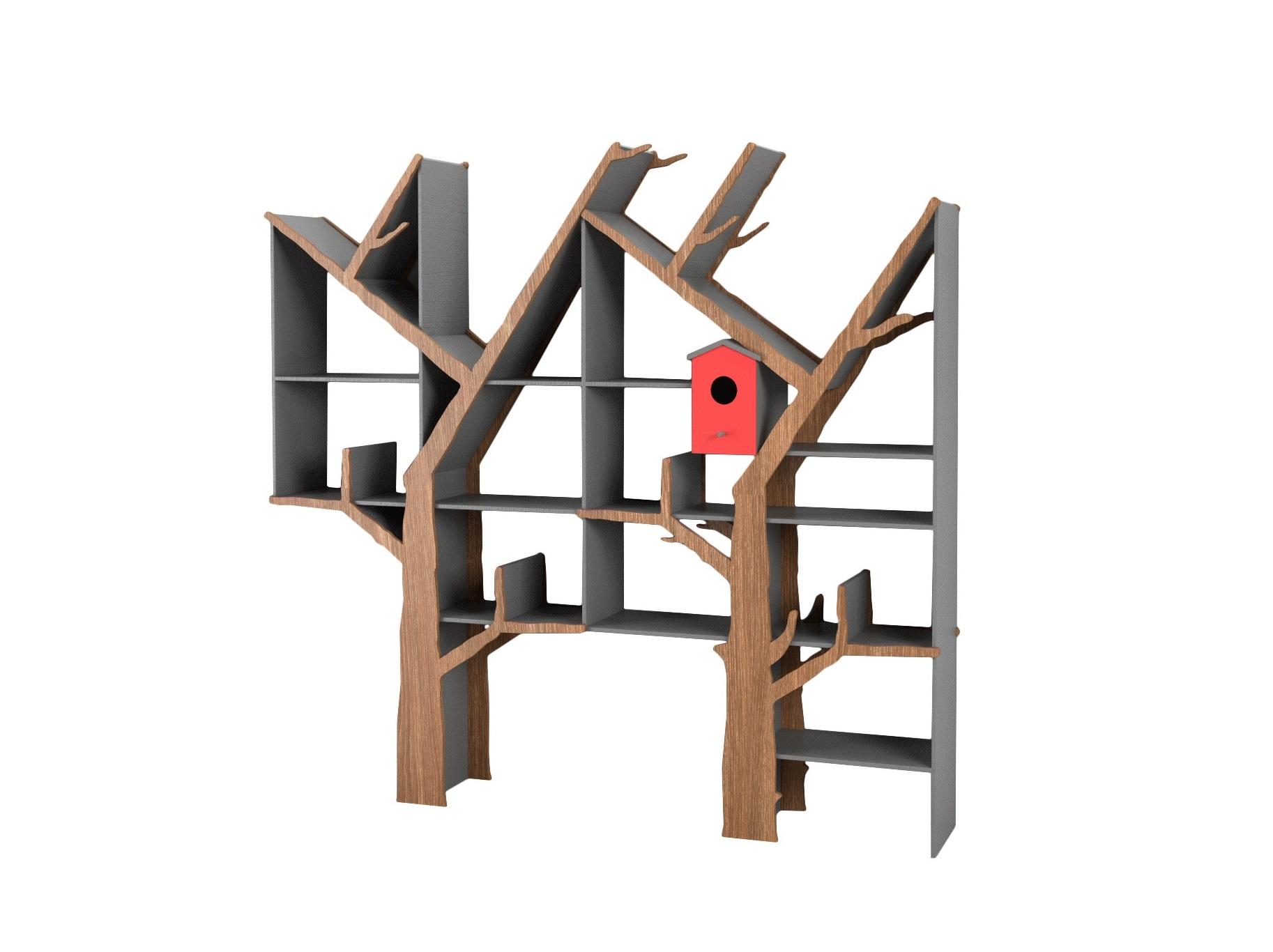 Стеллаж Дерево двойноеСтеллажи и этажерки<br>Креативный двойной стеллаж очень функционален и отлично подойдет для детской или прихожей!&amp;amp;nbsp;&amp;lt;div&amp;gt;&amp;lt;br&amp;gt;&amp;lt;/div&amp;gt;&amp;lt;div&amp;gt;Материал: МДФ, шпон&amp;amp;nbsp;&amp;lt;/div&amp;gt;<br><br>Material: МДФ<br>Ширина см: 200<br>Высота см: 200<br>Глубина см: 24