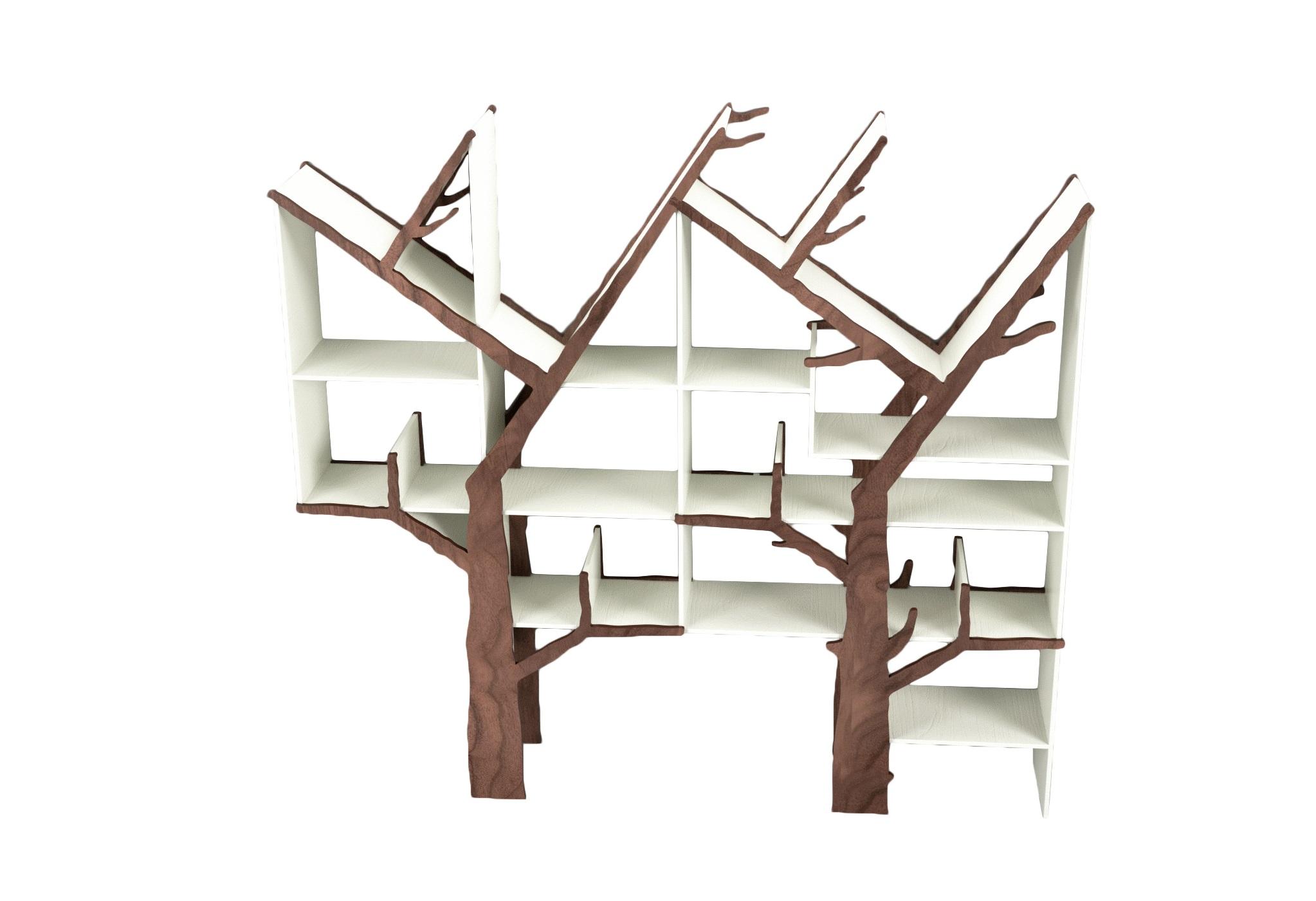 Стеллаж Дерево двойноеСтеллажи и этажерки<br>&amp;lt;div&amp;gt;Креативный двойной стеллаж очень функционален и отлично подойдет для детской или прихожей!&amp;amp;nbsp;&amp;lt;/div&amp;gt;&amp;lt;div&amp;gt;&amp;lt;br&amp;gt;&amp;lt;/div&amp;gt;&amp;lt;div&amp;gt;Материал: МДФ, шпон&amp;amp;nbsp;&amp;lt;/div&amp;gt;<br><br>Material: МДФ<br>Ширина см: 200.0<br>Высота см: 200.0<br>Глубина см: 24.0