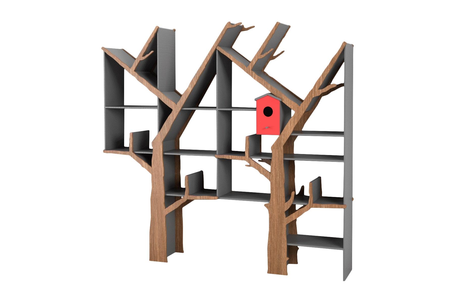 Стеллаж Дерево двойноеСтеллажи и этажерки<br>&amp;lt;div&amp;gt;Креативный двойной стеллаж очень функционален и отлично подойдет для детской или прихожей!&amp;amp;nbsp;&amp;lt;/div&amp;gt;&amp;lt;div&amp;gt;&amp;lt;br&amp;gt;&amp;lt;/div&amp;gt;&amp;lt;div&amp;gt;Материал: МДФ, шпон&amp;amp;nbsp;&amp;lt;/div&amp;gt;<br><br>Material: МДФ<br>Ширина см: 151.0<br>Высота см: 150.0<br>Глубина см: 24.0