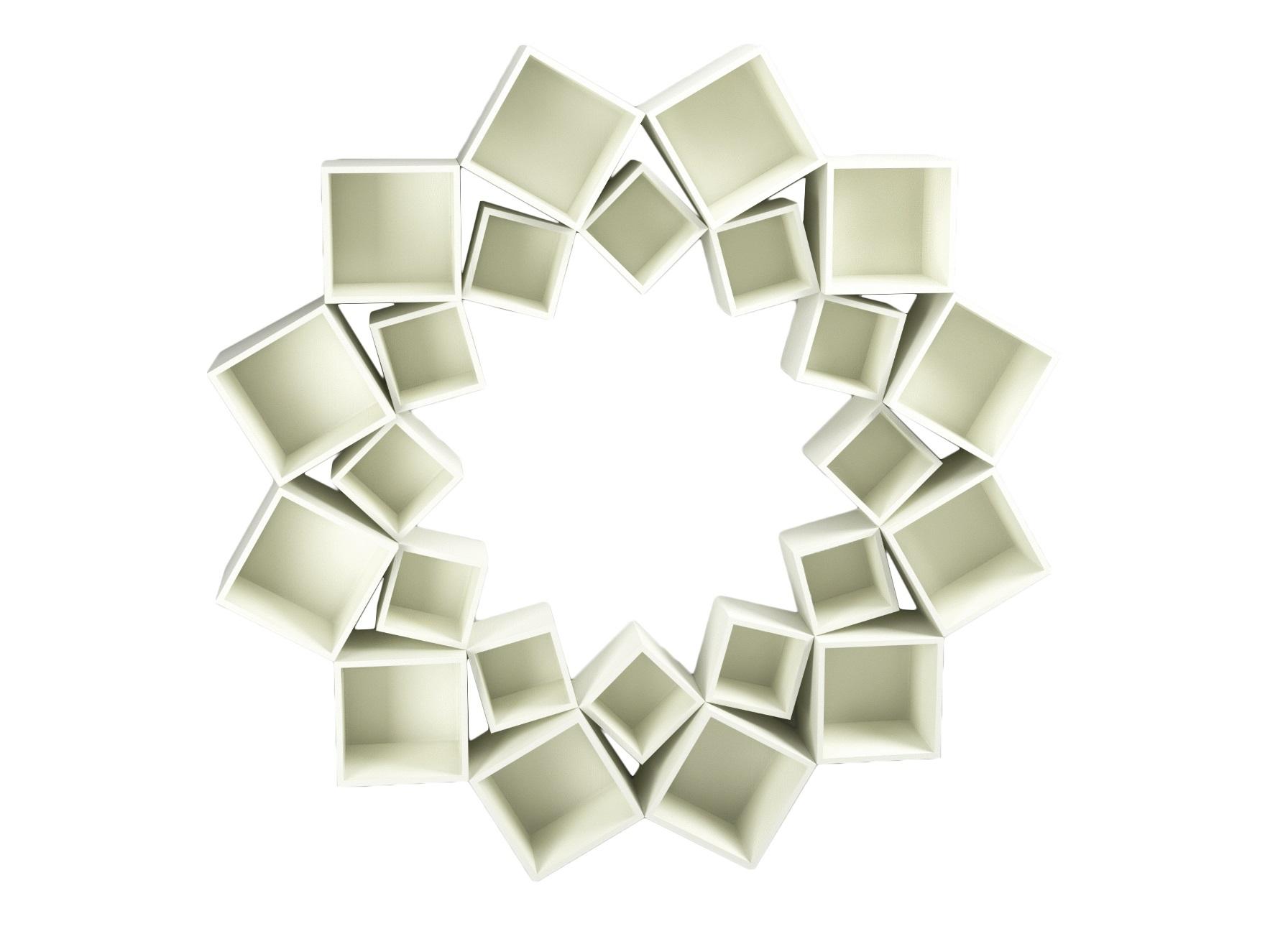 Стеллаж Лотос 2 кругаСтеллажи и этажерки<br>&amp;lt;div&amp;gt;Потрясающий стеллаж из трех кругов квадратов!&amp;amp;nbsp;&amp;lt;br&amp;gt;&amp;lt;/div&amp;gt;&amp;lt;div&amp;gt;&amp;lt;br&amp;gt;&amp;lt;/div&amp;gt;&amp;lt;div&amp;gt;Материал: МДФ, шпон&amp;amp;nbsp;&amp;lt;/div&amp;gt;<br><br>Material: МДФ<br>Depth см: 30<br>Height см: 210<br>Diameter см: 210