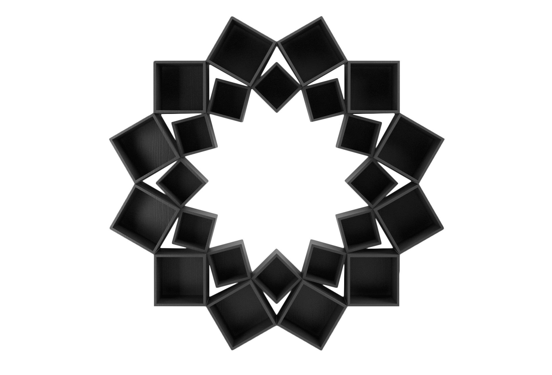 Стеллаж Лотос 2 кругаСтеллажи и этажерки<br>&amp;lt;div&amp;gt;Потрясающий стеллаж из трех кругов квадратов!&amp;amp;nbsp;&amp;lt;/div&amp;gt;&amp;lt;div&amp;gt;&amp;lt;br&amp;gt;&amp;lt;/div&amp;gt;&amp;lt;div&amp;gt;Материал: МДФ, шпон&amp;amp;nbsp;&amp;lt;/div&amp;gt;<br><br>Material: МДФ<br>Depth см: 30<br>Height см: 210<br>Diameter см: 210