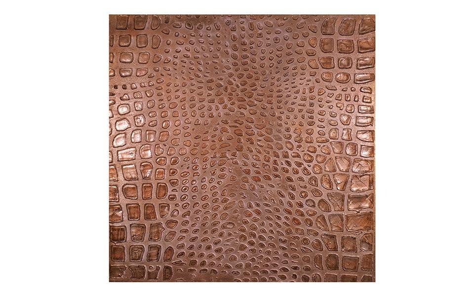 Настенное панно АллигаторПанно<br>Объемное настенное панно выполнено в анималистическом стиле и представляют собой имитацию кожи аллигатора<br><br>Material: Холст<br>Width см: 100<br>Depth см: 4<br>Height см: 100
