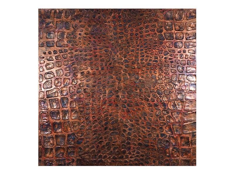 Настенное панно АллигаторПанно<br>Объемное настенное панно выполнено в анималистическом стиле и представляют собой имитацию кожи аллигатора<br><br>Material: Холст<br>Ширина см: 100<br>Высота см: 100<br>Глубина см: 4