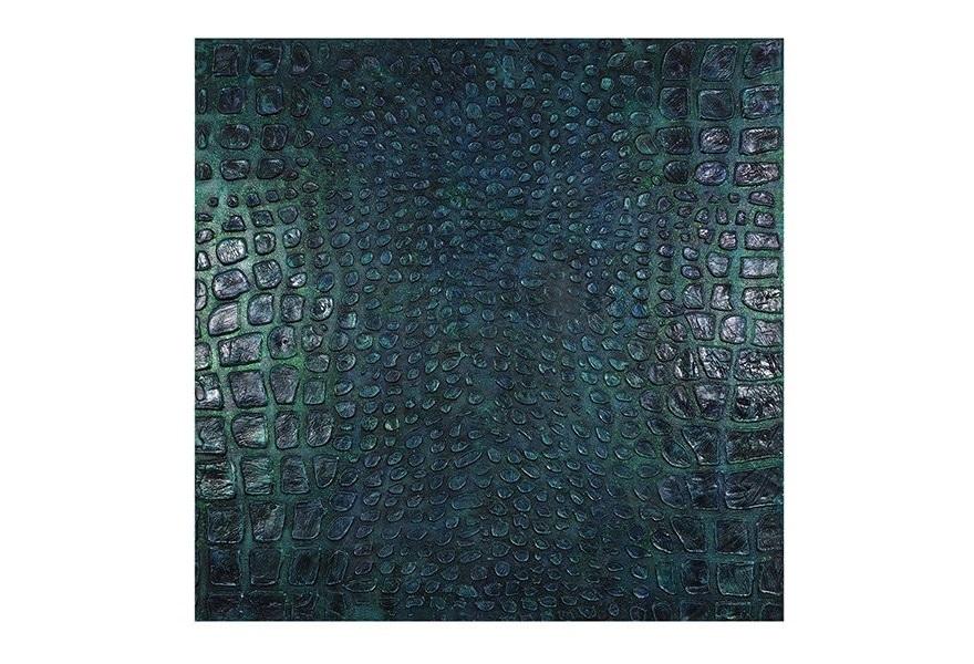 Настенное панно АллигаторПанно<br>Объемное настенное панно выполнено в анималистическом стиле и представляют собой имитацию кожи аллигатора изумрудного цвета.<br><br>Material: Холст<br>Width см: 100<br>Depth см: 4<br>Height см: 100