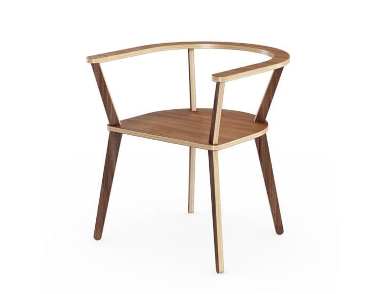 Стул Enk?pingsСтулья с подлокотниками<br>Прочный, стильный и удобный стул, настоящая классика скандинавского дизайна. Отделка шпоном ореха. Сборка не требуется.<br><br>Material: Фанера<br>Ширина см: 65.0<br>Высота см: 72.0<br>Глубина см: 65.0
