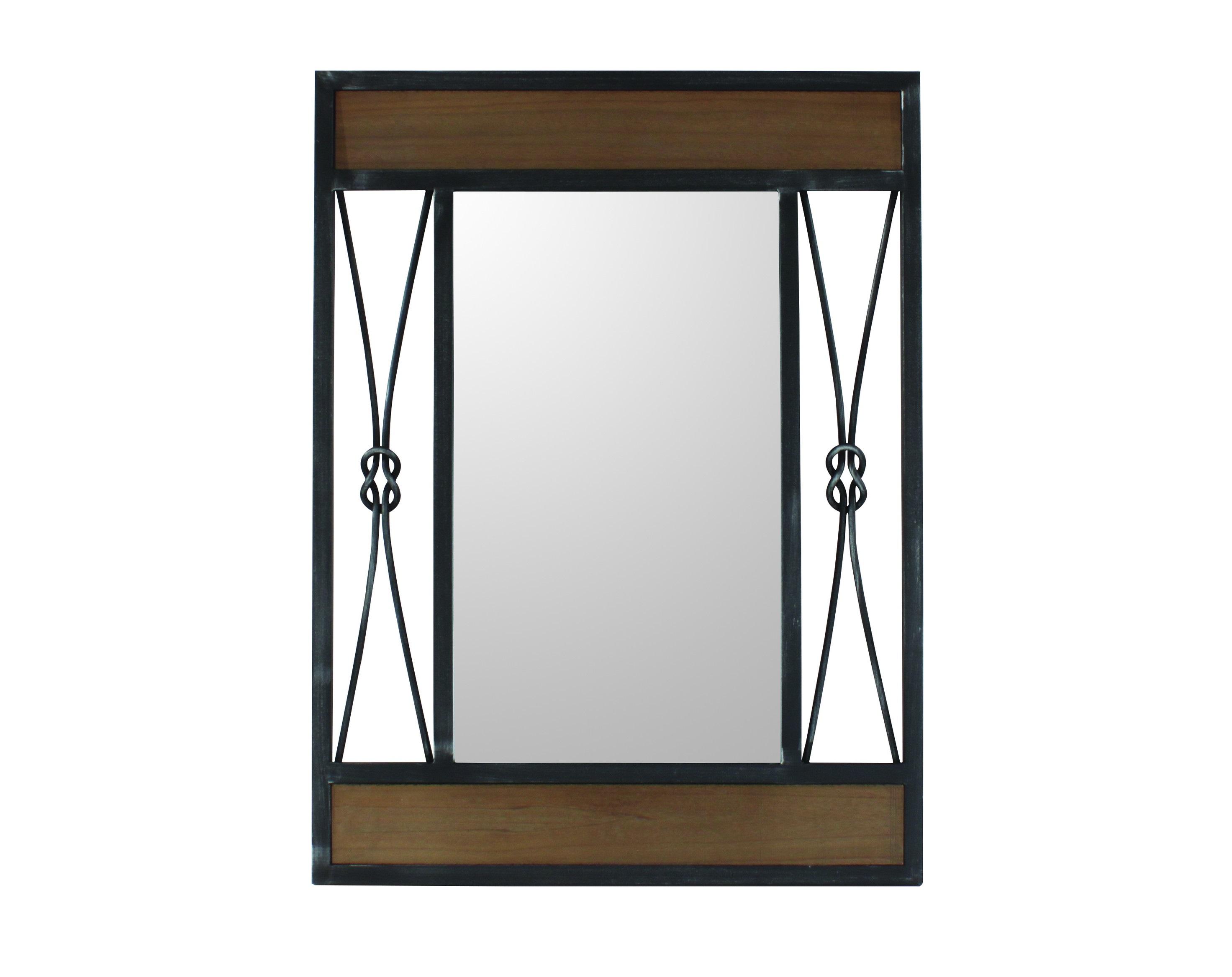 Зеркало KNOTНастенные зеркала<br>Позвольте себе заглянуть в прошлое с зеркалом &amp;quot;Knot&amp;quot;. Уникальный силуэт этого настенного декора напоминает небольшое окошечко, обрамленное элегантной деревянной рамой с железными вставками. Возможно, именно в него вы сумеете разглядеть какие-то события эпохи ар-деко. Ведь именно в стиле этого времени выполнен дизайн зеркала.<br><br>Material: Стекло<br>Length см: 60<br>Width см: 80