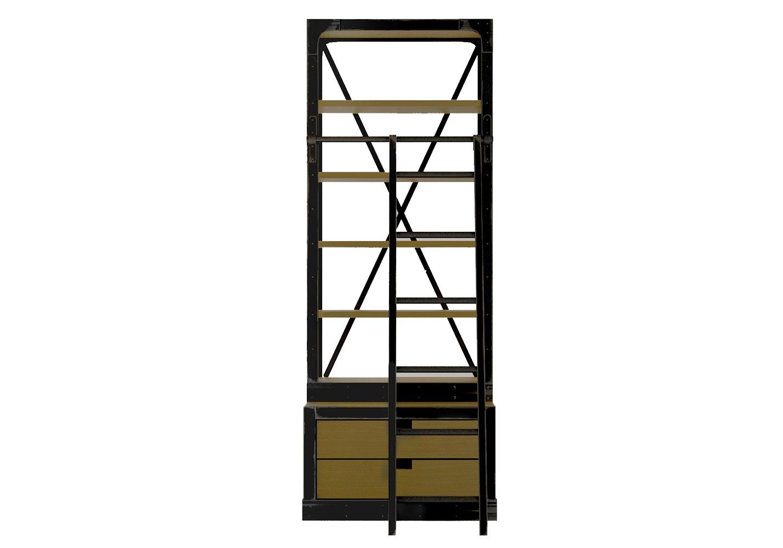 Открытый стеллаж industrial с 2 ящикамиСтеллажи и этажерки<br><br><br>Material: Береза<br>Ширина см: 75<br>Высота см: 200<br>Глубина см: 40
