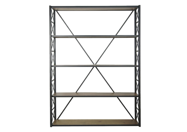 Открытый черный стеллаж IndustrialСтеллажи и этажерки<br><br><br>Material: Металл<br>Ширина см: 150<br>Высота см: 200<br>Глубина см: 30