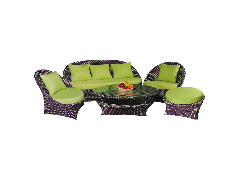 Комплект мебели ЛандышиКомплекты уличной мебели<br>Комплект мебели коллекция «Ландыши».<br>Экстравагантный стиль, дерзкий дизайн, неподражаемые формы – все это совмещено в коллекции мебели «Ландыши». Этот комплект мебели способен расставить решительные акценты в любом интерьере, создать особый неповторимый, исключительно Ваш стиль!<br>Мебель из коллекции «Ландыши» может стоять на улице круглый год. Не боится влаги и мороза.&amp;amp;nbsp;&amp;lt;div&amp;gt;&amp;lt;br&amp;gt;&amp;lt;/div&amp;gt;&amp;lt;div&amp;gt;Каркас всей мебели не разборный, подушки входят в комплект.&amp;amp;nbsp;&amp;lt;/div&amp;gt;&amp;lt;div&amp;gt;Цвет плетения: темно-лиловый, цвет подушек: фисташковый.<br>Коллекция: &amp;quot;Ландыши&amp;quot;.<br>&amp;lt;/div&amp;gt;&amp;lt;div&amp;gt;Ваза с фруктами в комплект не входит.&amp;lt;br&amp;gt;&amp;lt;/div&amp;gt;&amp;lt;div&amp;gt;&amp;lt;br&amp;gt;&amp;lt;/div&amp;gt;&amp;lt;div&amp;gt;Размеры:&amp;lt;/div&amp;gt;&amp;lt;div&amp;gt;Диван 900*1800*800&amp;lt;/div&amp;gt;&amp;lt;div&amp;gt;Кресла 900*900*800&amp;lt;/div&amp;gt;&amp;lt;div&amp;gt;Оттоманка 700*300&amp;amp;nbsp;&amp;lt;/div&amp;gt;&amp;lt;div&amp;gt;Столик 1200*400&amp;lt;br&amp;gt;&amp;lt;/div&amp;gt;&amp;lt;div&amp;gt;&amp;lt;br&amp;gt;&amp;lt;/div&amp;gt;<br><br>Material: Искусственный ротанг<br>Ширина см: 180<br>Высота см: 90<br>Глубина см: 80