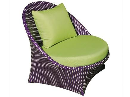 Кресло ландыши (green garden) фиолетовый 90x80x90 см.