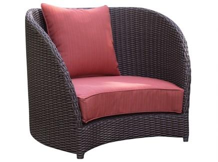 Кресло тюльпан (green garden) красный 91x80x85 см.