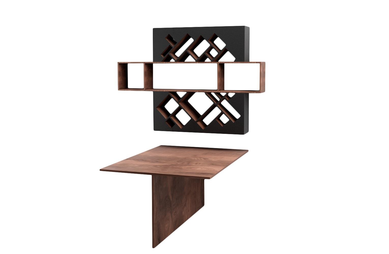 Рабочее место ГеометрияПисьменные столы<br>Необычная полка оживит ваше рабочее место! Стол на две персоны&amp;amp;nbsp;&amp;lt;div&amp;gt;&amp;lt;br&amp;gt;&amp;lt;/div&amp;gt;&amp;lt;div&amp;gt;Размеры:&amp;lt;/div&amp;gt;&amp;lt;div&amp;gt;&amp;amp;nbsp;стол - 115см x162см,x 75см;&amp;lt;/div&amp;gt;&amp;lt;div&amp;gt;полка - 183см x 127см x 25см&amp;amp;nbsp;&amp;lt;/div&amp;gt;&amp;lt;div&amp;gt;Материал: МДФ, шпон&amp;amp;nbsp;&amp;lt;/div&amp;gt;<br><br>Material: МДФ<br>Width см: 183<br>Depth см: 24<br>Height см: 127