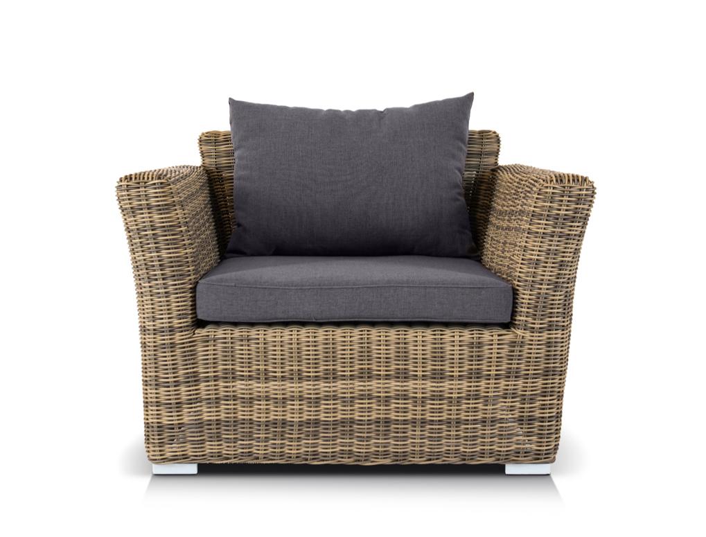 Кресло БольцаноКресла для сада<br><br><br>Material: Ротанг<br>Length см: None<br>Width см: 105<br>Depth см: 85<br>Height см: 77