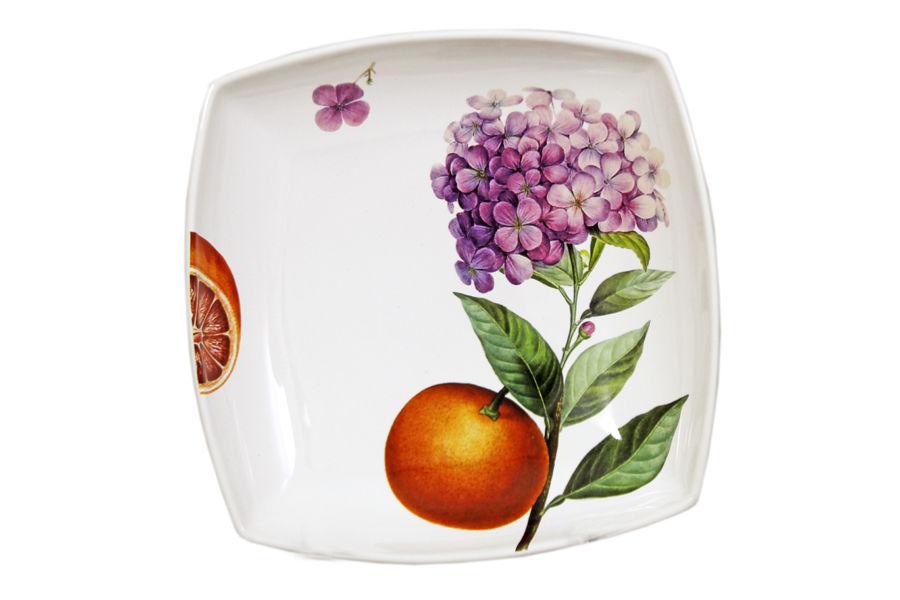 Тарелка суповая  Гортензия и апельсиныТарелки<br><br><br>Material: Керамика<br>Ширина см: 20<br>Глубина см: 20