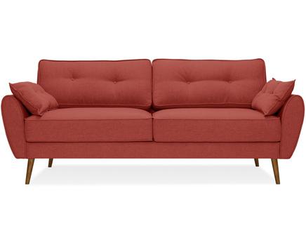 Диван vogue (myfurnish) красный 226x88x91 см.