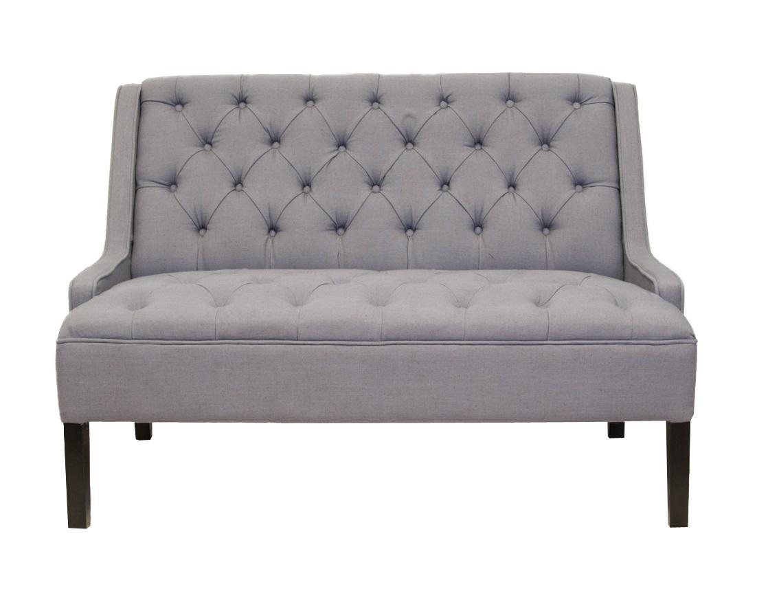 Диван SommetДиванетки и софы<br>Такой диванчик Sommet - современный и стильный предмет украшения вашего дома, который непременно добавит ему уюта. Простое лаконичное дизайнерское решение, цвет и форма дивана позволяют ему вписаться в любой как классический, так и современный интерьер&amp;amp;nbsp;<br><br>Material: Лен<br>Width см: 126<br>Depth см: 81<br>Height см: 90