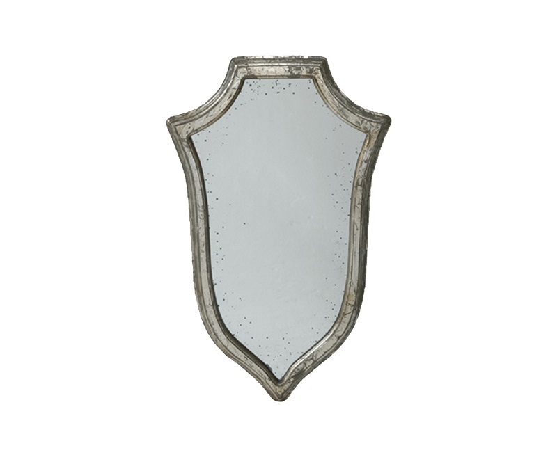 Зеркало ГеральдикаНастенные зеркала<br>Состаренное настенное зеркало в стиле прованс.<br><br>Material: Дерево<br>Width см: 47<br>Height см: 80