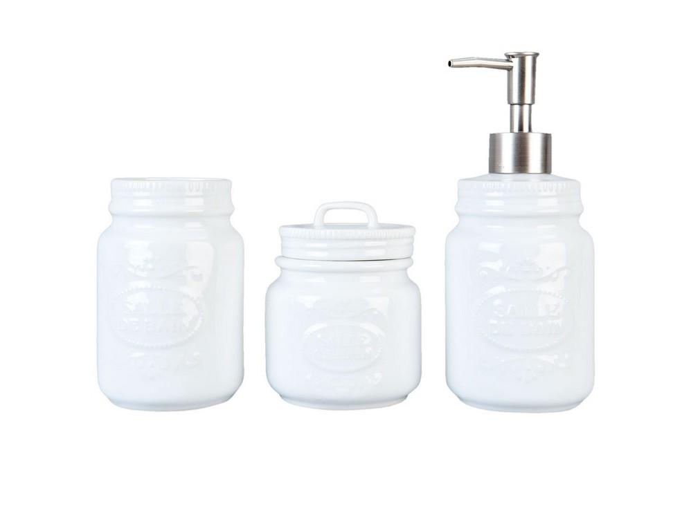 Набор для ванной (3 предмета)Аксессуары для ванной<br>&amp;amp;nbsp;Дозатор для мыла (высота 18 см, диаметр 6 см)&amp;lt;div&amp;gt;&amp;amp;nbsp;стакан для зубных щеток (высота 12см, диаметр 6,5 см)&amp;lt;/div&amp;gt;&amp;lt;div&amp;gt;&amp;amp;nbsp;стакан для зубной пасты (высота 10 см, диаметр 7,5 см).&amp;lt;/div&amp;gt;<br><br>Material: Керамика<br>Ширина см: 17<br>Высота см: 14<br>Глубина см: 7