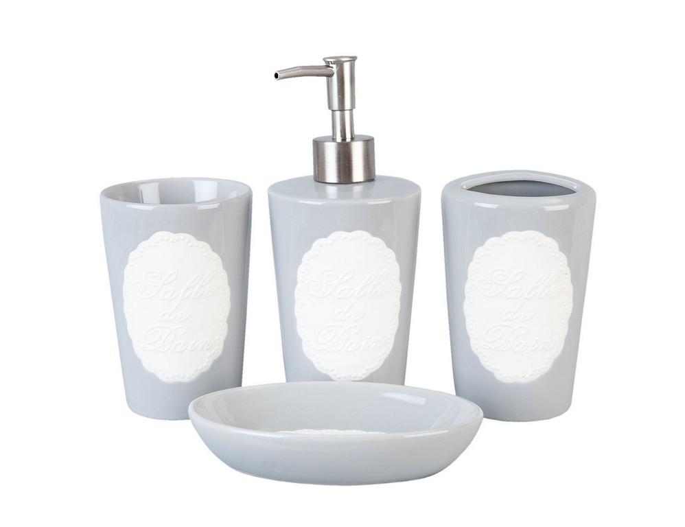 Набор для ванной (4 шт)Аксессуары для ванной<br>Дозатор для мыла (высота 14 см, диаметр 3 см)&amp;lt;div&amp;gt;стакан для зубных щеток (высота 14 см, диаметр 3 см)&amp;lt;/div&amp;gt;&amp;lt;div&amp;gt;стакан для зубной пасты (высота 14 см, диаметр 3 см)&amp;lt;/div&amp;gt;&amp;lt;div&amp;gt;мыльница (высота 2 см, диаметр 10см).&amp;lt;/div&amp;gt;<br><br>Material: Керамика<br>Width см: 17<br>Depth см: 7<br>Height см: 14