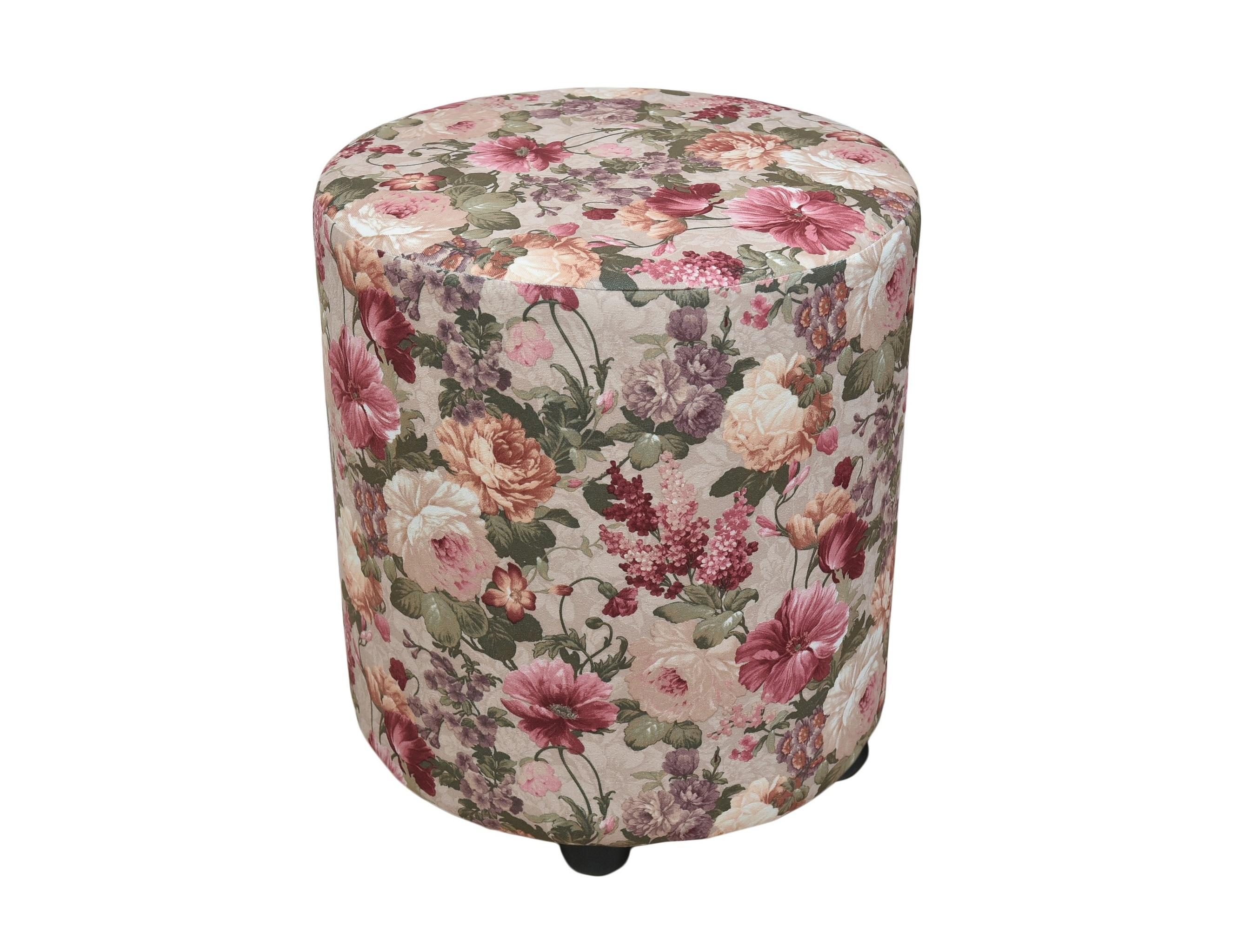 ПуфФорменные пуфы<br>Очень устойчивый пуф на деревянной основе станет незаменимым предметом декора или функциональной мебелью в вашем доме. А эксклюзивные ткани добавят изюминку в ваше пространство.<br><br>Material: Текстиль<br>Length см: None<br>Height см: 45<br>Diameter см: 40