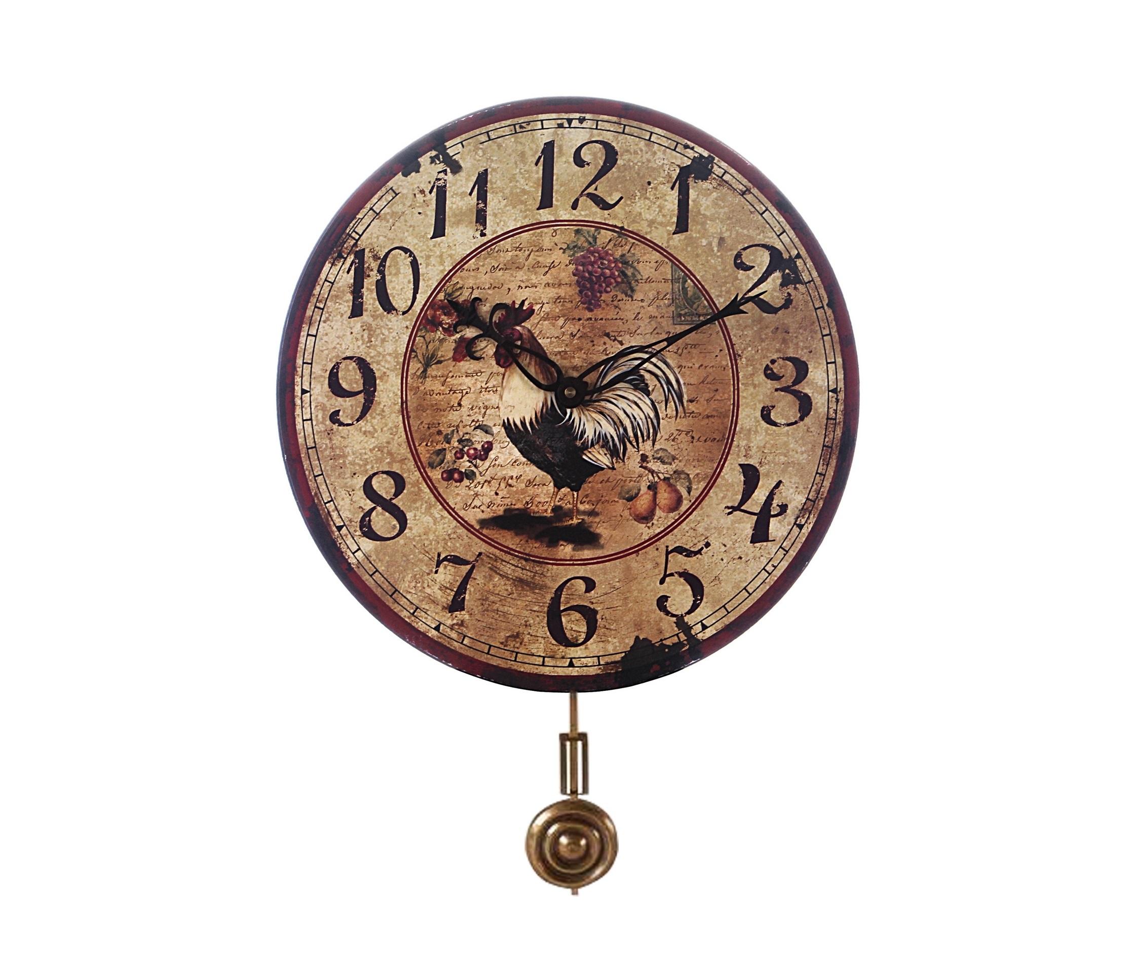 Часы На фермеНастенные часы<br>Часы &amp;amp;nbsp;настенные электромеханические с маятником.<br><br>Material: Металл<br>Diameter см: 35