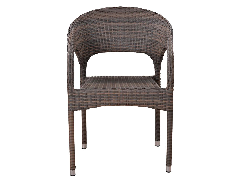 Кресло из ротангаКресла для сада<br>Материалы изделия: <br>каркас - стальные трубы, <br>оплётка - иск. ротанг.<br><br>Material: Искусственный ротанг<br>Ширина см: 63<br>Высота см: 79<br>Глубина см: 58