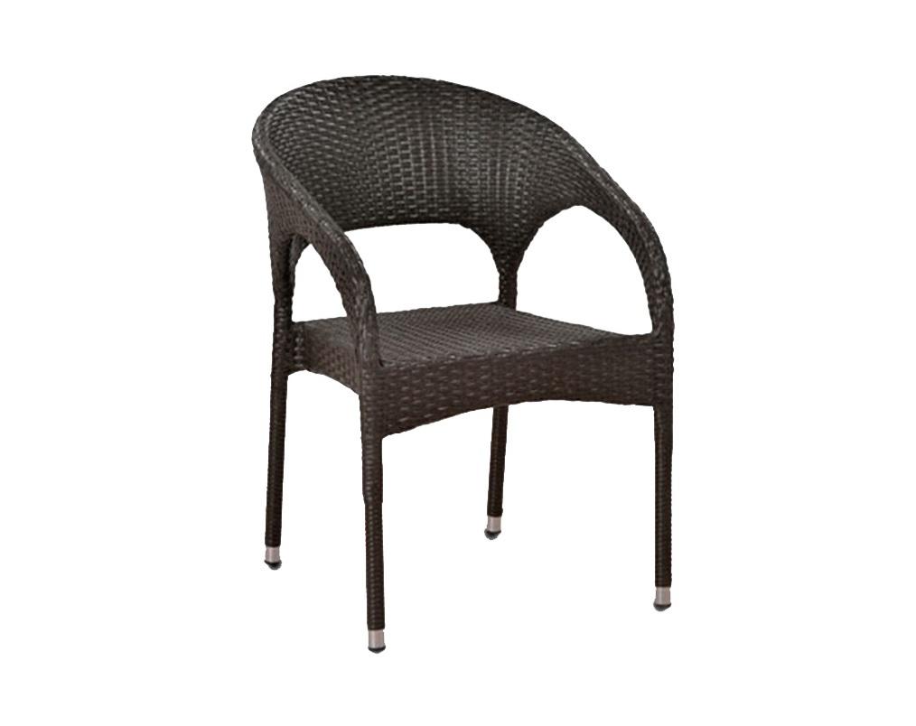Кресло из ротангаКресла для сада<br>Материалы: стальной каркас оплетённый искусственным ротангом.<br><br>Material: Искусственный ротанг<br>Ширина см: 63<br>Высота см: 79<br>Глубина см: 58
