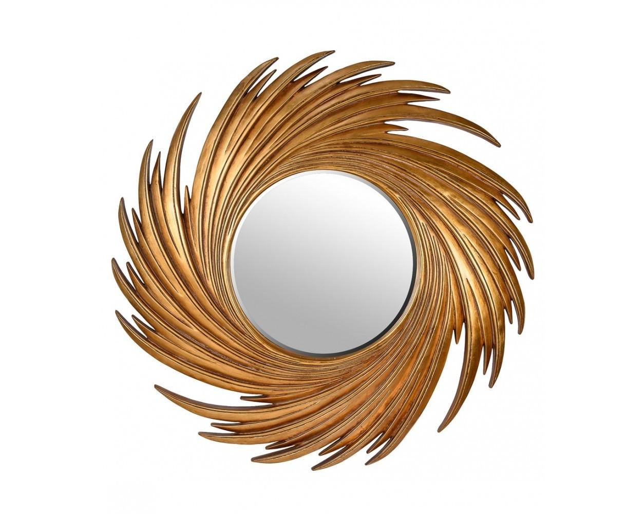 Зеркало в раме СвирлНастенные зеркала<br>Крепления входят в стоимость.<br><br>Material: Пластик<br>Depth см: 3<br>Diameter см: 98