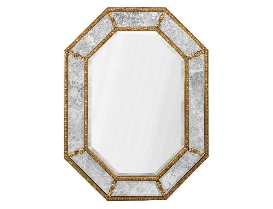 Зеркало НьюпортНастенные зеркала<br>Зеркало в раме Ньюпорт Gold от итальянских дизайнеров в классической восьмиугольной раме с цветочным узорным орнаментом. Можно расположить как горизонтально, так и вертикально.<br><br>Material: Пластик<br>Ширина см: 90.0<br>Высота см: 120.0<br>Глубина см: 4.0