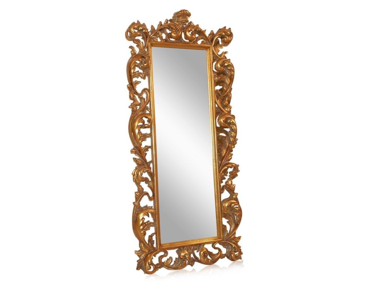 Напольное зеркало Меривейл (золото)Напольные зеркала<br>Прекрасное и элегантное напольное зеркало Meривейл в багете.<br>Утонченное творение дизайнеров в стиле барокко украсит интерьер и станет его главным акцентом и предметом восхищения для ваших знакомых.<br><br>Material: Дерево<br>Ширина см: 85<br>Высота см: 193<br>Глубина см: 11