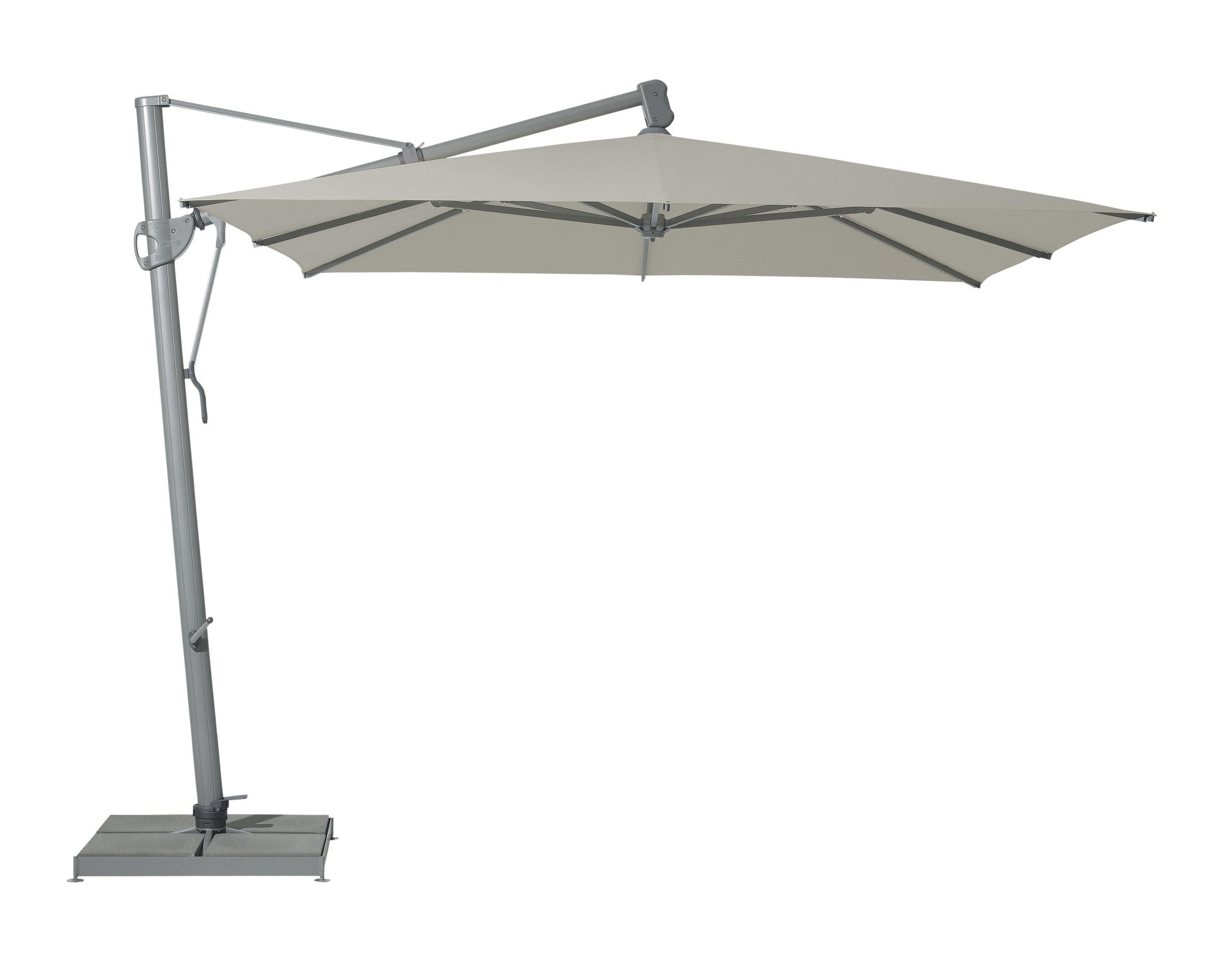 Уличный зонт Sombrano easyТенты и зонты<br>Квадратный зонт с боковой опорой, каркас из крашенного в темно-серый цвет алюминия. Вращается вокруг своей оси. Регулируется угол наклона купола.&amp;amp;nbsp;&amp;lt;div&amp;gt;Плотность ткани 220 g/m2.&amp;amp;nbsp;&amp;lt;/div&amp;gt;&amp;lt;div&amp;gt;Максимальная ветровая нагрузка 45км/ч.&amp;amp;nbsp;&amp;lt;/div&amp;gt;&amp;lt;div&amp;gt;В комплект входит:  база 180кг,декоративная крышка для базы, защитный чехол.&amp;amp;nbsp;&amp;lt;/div&amp;gt;<br><br>Material: Алюминий<br>Width см: 300<br>Depth см: 300<br>Height см: 300