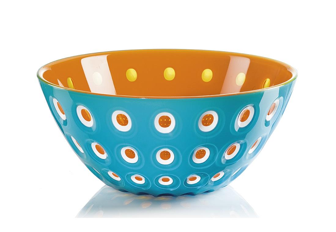 Салатница le murrineМиски и чаши<br>Эта оригинальная салатница Le Murrine является результатом инновационного исследования Guzzini в области форм и материалов. Технология инжекторной трехцветной штамповки 3 Color Tech образует уникальный эффект, который делает салатницу изысканным и неповторимым предметом для сервировки. Наложенные друг на друга три слоя пластика позволяют создавать игру цвета, чередовать плотные и прозрачные, полированные и матовые поверхности.<br><br>Салатница подойдет для подачи десертов, выпечки, мороженого и других блюд, а так же может служить изящным декоративным элементом вашего дома. <br>Объем 2,7 л. Изготовлена из безопасного высококачественного пластика, устойчивого к износу и повреждениям. Можно мыть в посудомоечной машине.<br><br>Material: Пластик<br>Height см: 11<br>Diameter см: 25