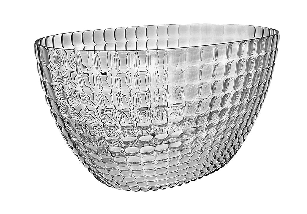 Ведерко для шампанского TiffanyМиски и чаши<br>Ведерко для шампанского - это общепризнанный символ праздника и один из главных предметов сервировки на столе. Оно подчеркивает торжественную атмосферу, привлекает взгляды гостей и украшает своим присутствием любой вечер. Дизайн ведерка Tiffany отличается оригинальной рельефной формой, которая в сочетании с прозрачным материалом заставляет поверхность сверкать и переливаться на свету.<br><br>Ведерко представляет собой расширяющийся кверху овал и может вместить сразу две бутылки белого вина. Прямой и ровный край гарантирует, что ведерко не треснет, если бутылка ударится о его стенку. Яркий, функциональный и привлекательный предмет для вечеринок с друзьями, семейных праздников и торжественных мероприятий.<br><br>Изготовлено из высококачественного органического стекла, устойчивого к износу и повреждениям. Не содержит вредных примесей и бисфенола-А. Моется вручную.<br><br>Material: Стекло<br>Width см: 28<br>Depth см: 17,5<br>Height см: 19