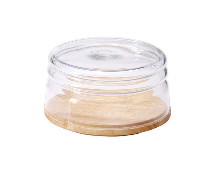 Емкость для сыра ContinentaПодставки и доски<br>Материал: каучуковое дерево, стекло<br><br>Material: Дерево<br>Высота см: 11