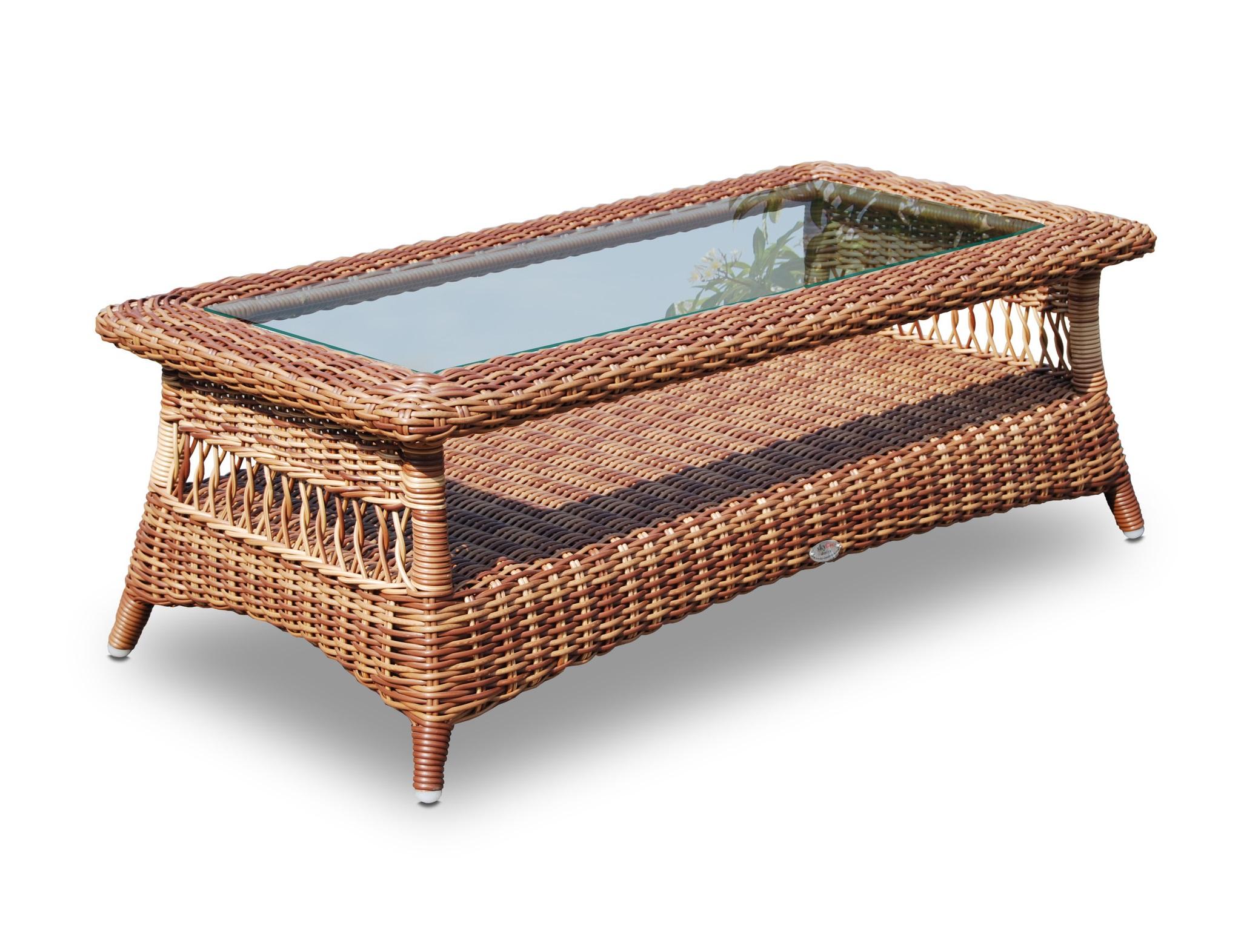 Кофейный столикСтолы и столики для сада<br><br><br>Material: Искусственный ротанг<br>Width см: 122<br>Depth см: 61,5<br>Height см: 42