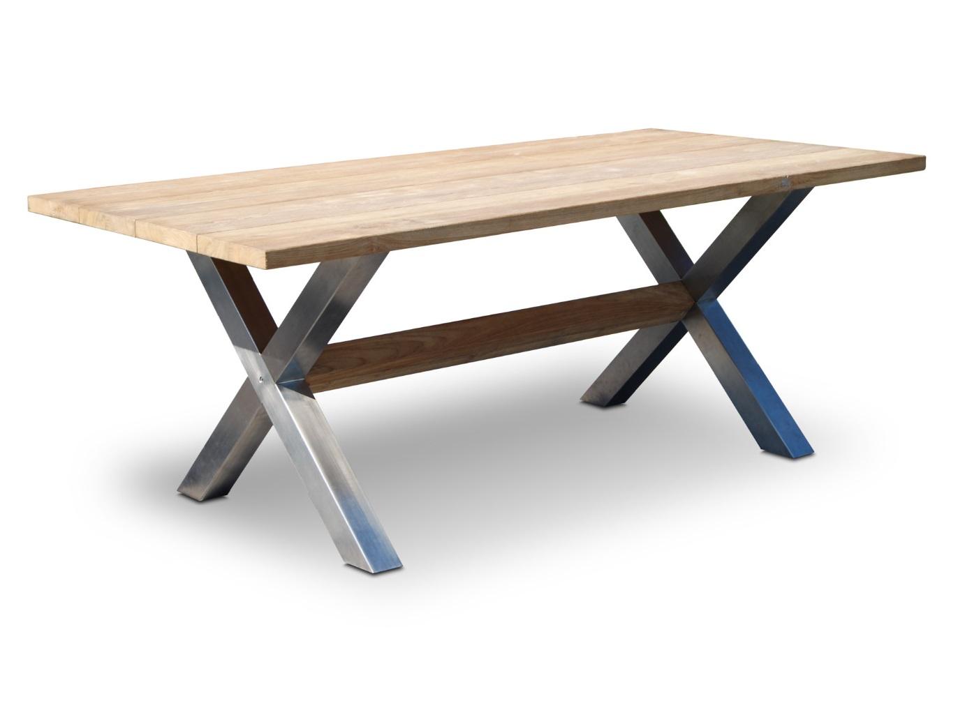 Стол NauticСтолы и столики для сада<br>Цвет столешницы: тик<br><br>Material: Дерево<br>Length см: 200<br>Width см: 100<br>Depth см: None<br>Height см: 75<br>Diameter см: None