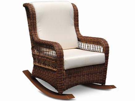 Кресло-качалка ebony (skyline) коричневый 67x103x103 см.