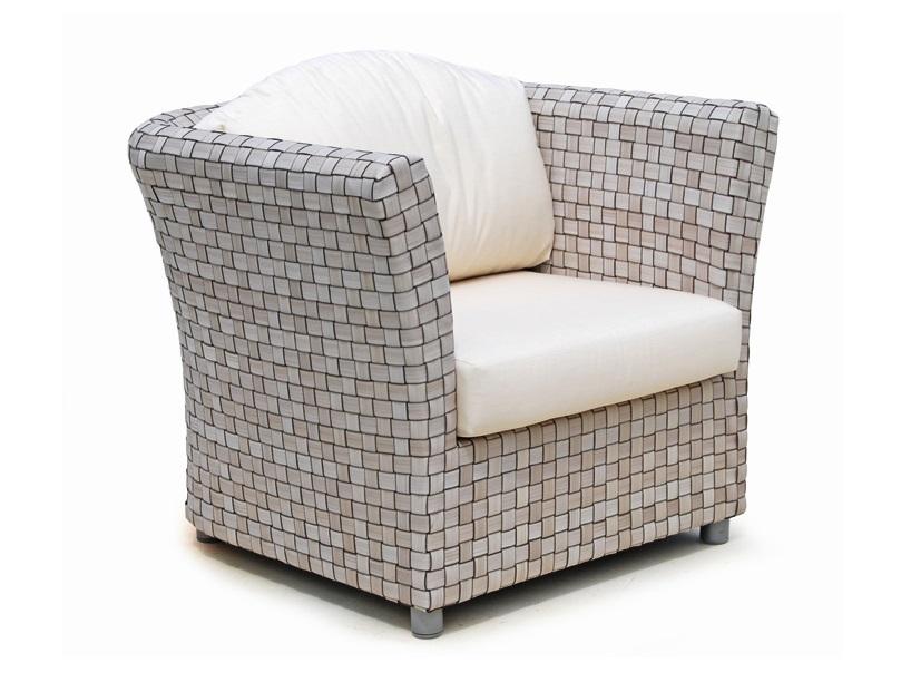 Кресло FlorenceКресла для сада<br>Кресло с подушками, цвет подушек - canvas velum (бежевый)<br>Цвет плетения: silver<br><br>Material: Искусственный ротанг<br>Ширина см: 87<br>Высота см: 76