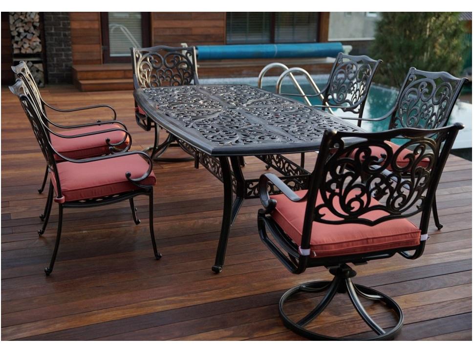 Комплект БарселонаКомплекты уличной мебели<br>Мебель из литого алюминия прекрасно гармонирует с современными стилями, помимо классики, все чаще видим модели оригинального органического и футуристического дизайна.?? Преимущества мебели из литого алюминия - это способность выдержать любые капризы природы, можно даже оставить под открытым небом на зиму.??&amp;lt;div&amp;gt;&amp;lt;br&amp;gt;&amp;lt;/div&amp;gt;&amp;lt;div&amp;gt;&amp;lt;div&amp;gt;2 вращающихся кресла с подушками: 60х70,5х95см&amp;lt;/div&amp;gt;&amp;lt;div&amp;gt;&amp;lt;span style=&amp;quot;font-size: 14px;&amp;quot;&amp;gt;4 кресла с подушками: 60х70,5х95см&amp;lt;/span&amp;gt;&amp;lt;/div&amp;gt;&amp;lt;div&amp;gt;&amp;lt;span style=&amp;quot;font-size: 14px;&amp;quot;&amp;gt;прямоугольный обеденный стол: 214х112х73см&amp;lt;/span&amp;gt;&amp;lt;/div&amp;gt;&amp;lt;div&amp;gt;&amp;lt;span style=&amp;quot;font-size: 14px;&amp;quot;&amp;gt;Материал каркаса: литой алюминий&amp;lt;/span&amp;gt;&amp;lt;br&amp;gt;&amp;lt;/div&amp;gt;&amp;lt;div&amp;gt;Материал ткани: spunpoly (подушка)&amp;lt;/div&amp;gt;&amp;lt;div&amp;gt;&amp;lt;br&amp;gt;&amp;lt;/div&amp;gt;&amp;lt;div&amp;gt;&amp;lt;br&amp;gt;&amp;lt;/div&amp;gt;&amp;lt;div&amp;gt;&amp;lt;/div&amp;gt;&amp;lt;/div&amp;gt;<br><br>Material: Алюминий<br>Width см: 214<br>Depth см: 112<br>Height см: 73