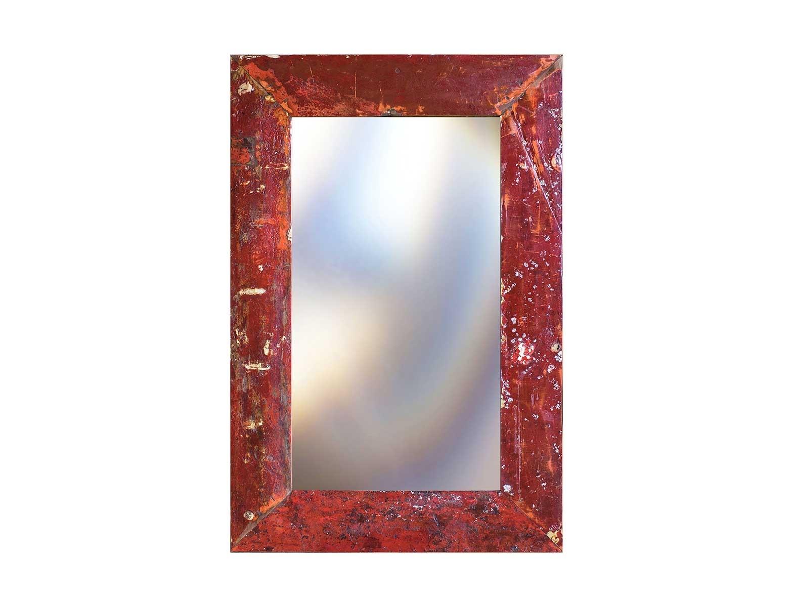 Зеркало Свет мой зеркальцеНастенные зеркала<br>Зеркало выполнено из фрагментов настоящего рыболовецкого судна, возраст которого 20-40 лет. Окрас сохранён оригинальный.<br><br>Material: Тик<br>Ширина см: 80.0<br>Высота см: 120.0<br>Глубина см: 3.0