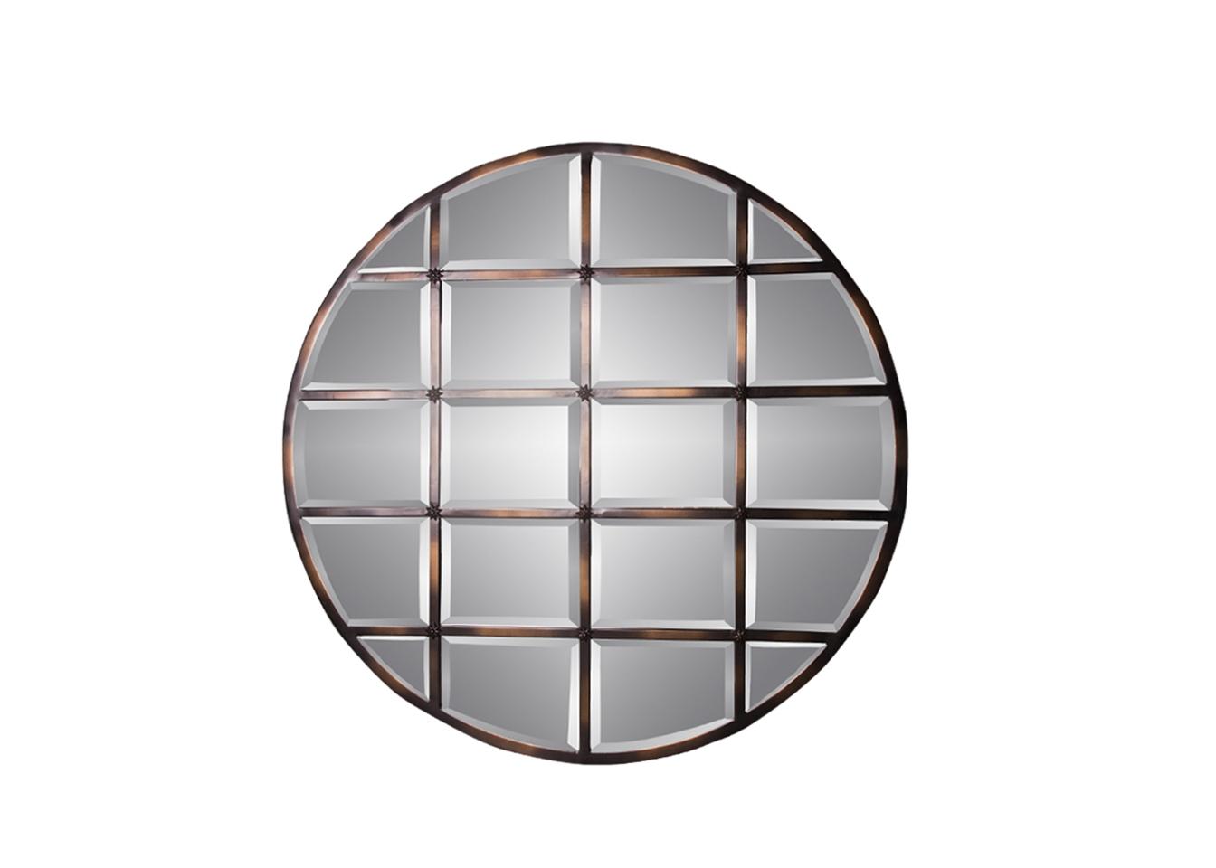 Зеркало ВенаНастенные зеркала<br>Амальгама зеркала выполнена из натурального серебра, что создает эффект благородной старины.<br><br>Material: Металл<br>Depth см: 3<br>Diameter см: 111