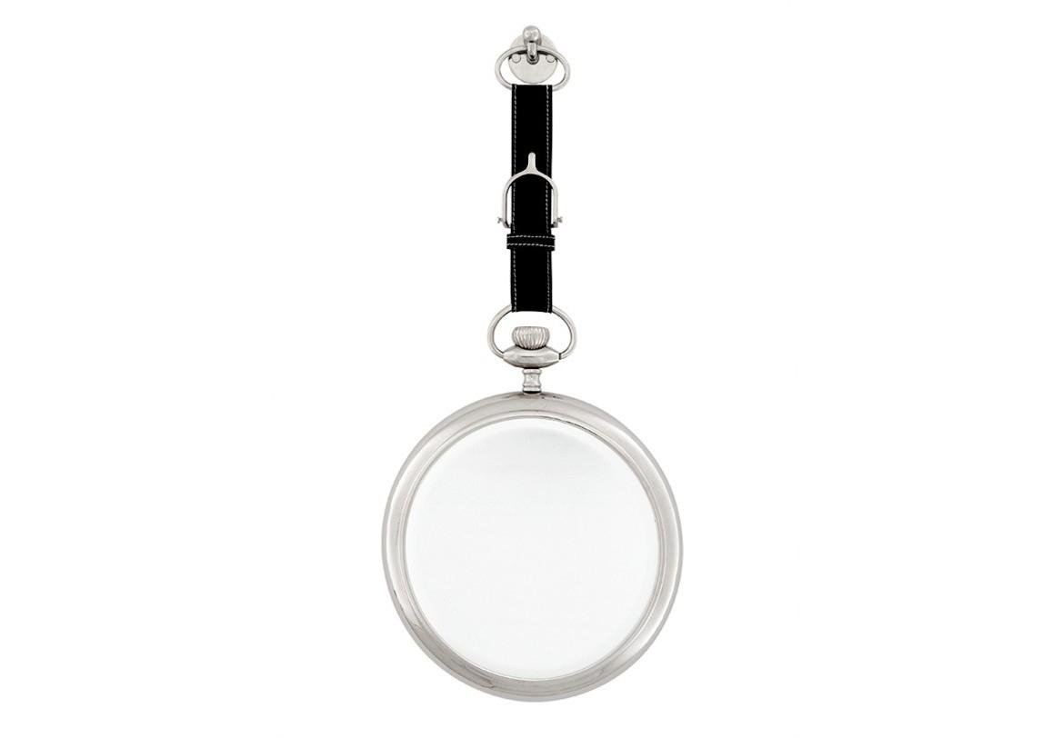 Зеркало 07425Настенные зеркала<br>Стильное круглое зеркало на кожаном ремешке.<br><br>Material: Никель<br>Height см: 58<br>Diameter см: 28