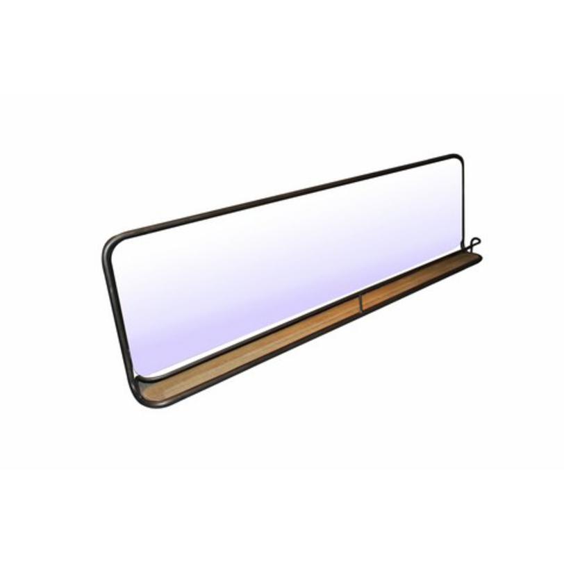ЗеркалоНастенные зеркала<br>Обтекаемые, но строгие формы, лаконичная, но привлекающая внимание отделка... Во всем этом и таится очарование современного стиля. В оформлении зеркала от Restoration Hardware последний наделен каплей брутальности. Она просматривается в тандеме холодного металла и теплой натуральной древесины. Их противоречивость рождает гармонию, идеальную как для лофта, так и для эклектики. Если вы ищете оригинальный и нетривиальный декор, лишенный помпезности, то аскетизм этого зеркала придется вам по вкусу.<br><br>Material: Металл<br>Length см: None<br>Width см: 175<br>Depth см: 14<br>Height см: 55<br>Diameter см: None