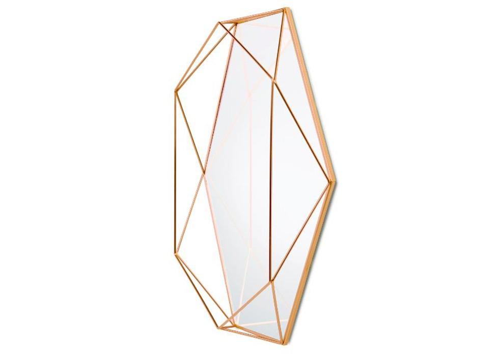 Зеркало настенное PrismaНастенные зеркала<br>Пополнение в легендарной коллекции Prisma. Геометрическая «огранка» из стальной проволоки придает этому зеркалу сходство с гигантским драгоценным камнем. Может располагаться на стене и в горизонтальном, и в вертикальном положении. Эффектное решение для любого интерьера.&amp;amp;nbsp;<br>&amp;lt;div&amp;gt;&amp;lt;br&amp;gt;&amp;lt;/div&amp;gt;&amp;lt;div&amp;gt;Дизайн: Sung wook Park&amp;lt;/div&amp;gt;<br><br>Material: Стекло<br>Ширина см: 43<br>Высота см: 56<br>Глубина см: 9