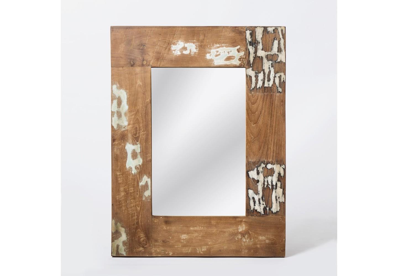 Зеркало Look 91Настенные зеркала<br>Зеркало из массива тика. Необычная фактура этого предмета, достигнутая за счёт использования при его создании антикварного дерева, делает его очень эффектным аксессуаром для гостиной или ванной комнаты.<br><br>Material: Тик<br>Length см: None<br>Width см: 71<br>Depth см: 4<br>Height см: 91<br>Diameter см: None
