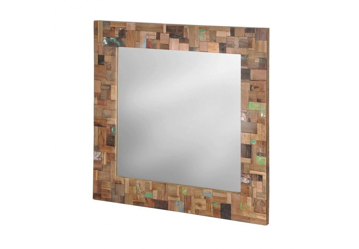 """Зеркало """"Ferum""""Настенные зеркала<br>Как и все предметы этой серии, рама зеркала выполнена из разноцветных кусочков дерева. Крашеные и натуральные, темные и светлые, они складываются в пеструю мозаику.<br><br>Material: Тик<br>Length см: None<br>Width см: 100<br>Depth см: 6<br>Height см: 100<br>Diameter см: None"""
