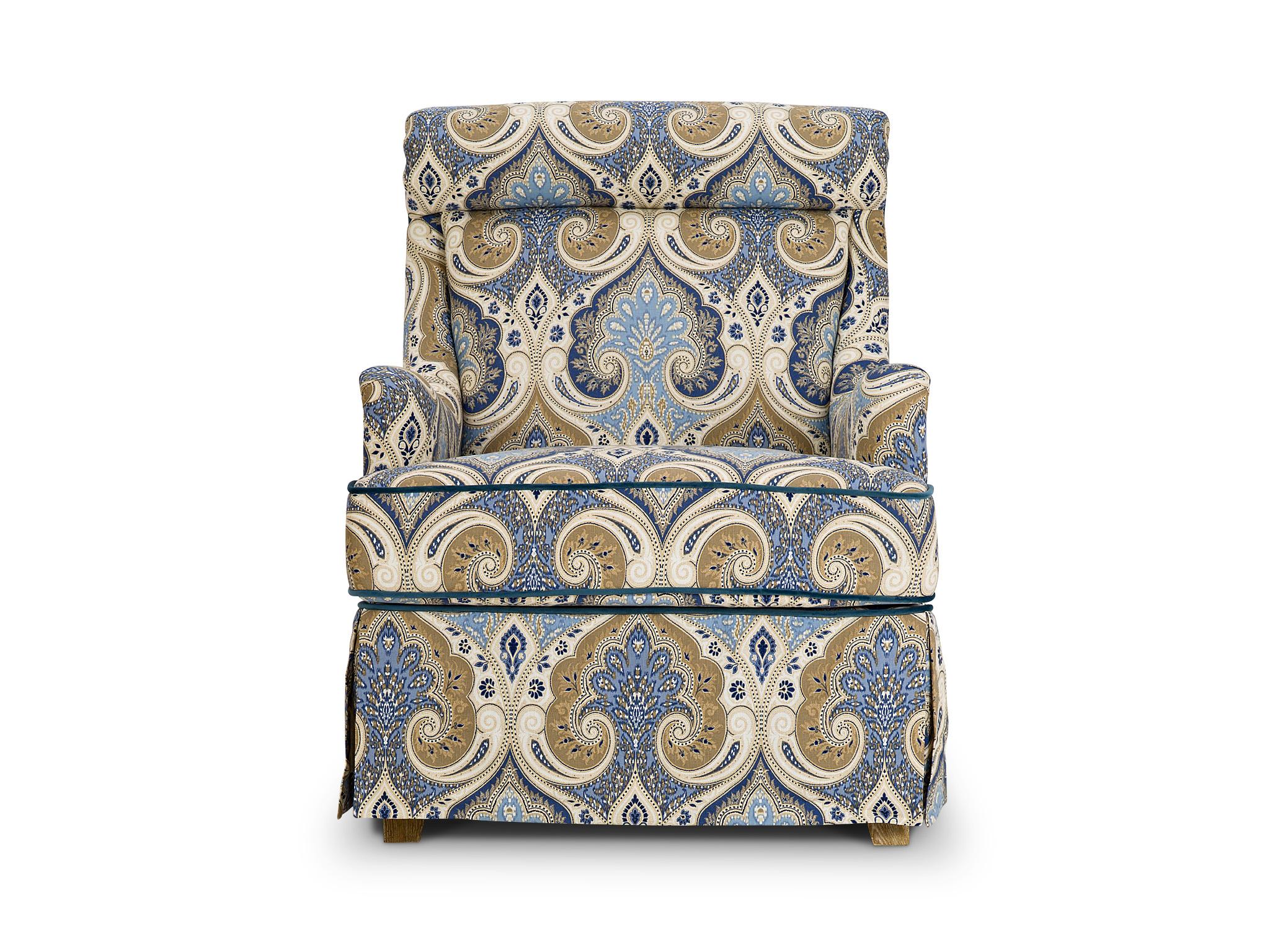 Кресло AlexaИнтерьерные кресла<br>Кресло &amp;quot;Alexa&amp;quot; с акцентной тканью будет прекрасно сочетаться с мебелью спокойных расцветок и идеально впишется в интерьер гостиной или спальни.<br><br>Material: Текстиль<br>Width см: 75<br>Depth см: 89<br>Height см: 97