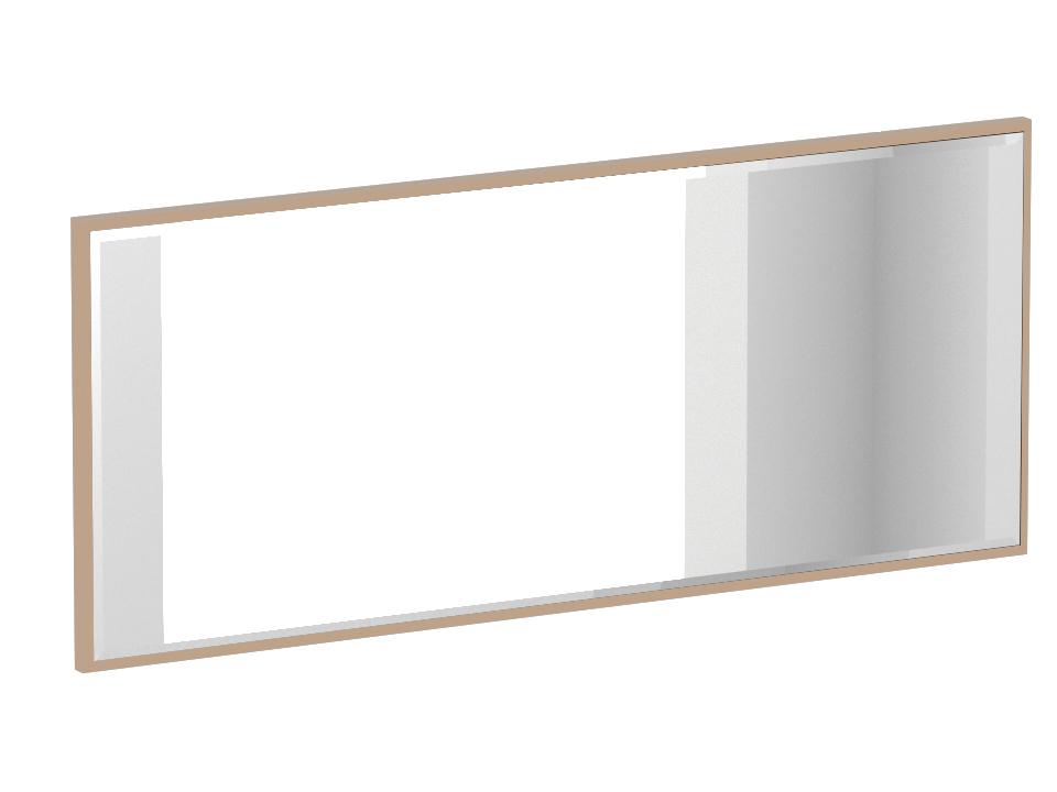 Зеркало KristalНастенные зеркала<br>Зеркало настенное. Может навешиваться как в вертикальном, так и в горизонтальном положении. Зеркало наклеено на черную щитовую основу.<br><br>Material: ДСП<br>Width см: 134<br>Depth см: 3<br>Height см: 57
