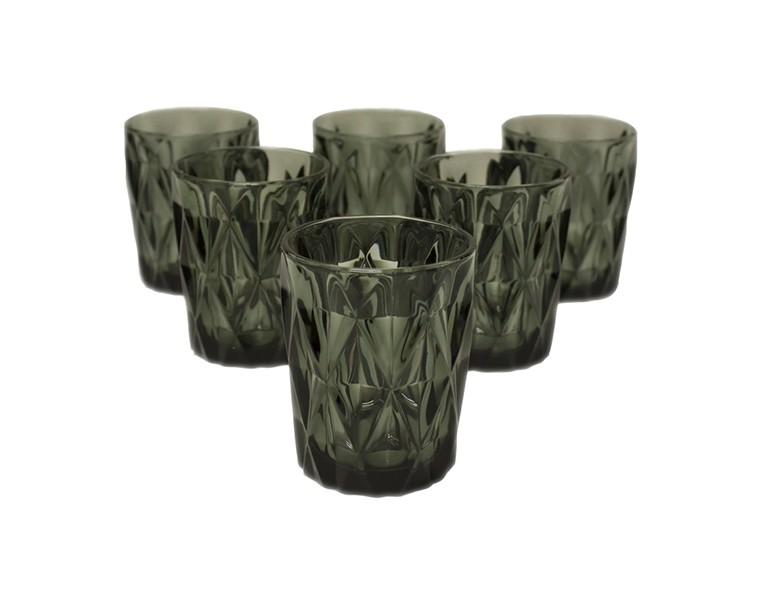 Набор стаканов Алькор (6 шт)Стаканы<br><br><br>Material: Стекло<br>Высота см: 10